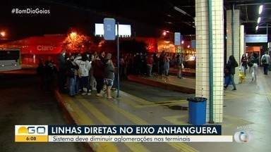Eixo Anhanguera passa a ter linhas diretas na Região Metropolitana - Fase de testes durou um mês. Levantamento aponta que houve diminuição no tempo da viagem. Ideia é desafogar terminais.