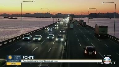 Trânsito pelas câmeras da cet-rio - Câmeras da cet-rio mostram o trânsito ainda tranquilo .Avenida Brasil ( 3 câmeras ) , Linha Vermelha ( 2 câmeras ) , Br-101 , Ponte Rio- Niterói .