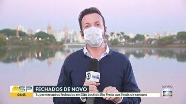 O vai e vem das decisões judiciais no oeste do estado - Supermercados fechados aos finais de semana em São José do Rio Preto.