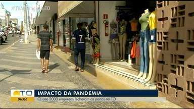 Quase 2000 empresas tocantinenses fecharam na pandemia - Quase 2000 empresas tocantinenses fecharam na pandemia