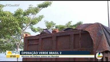 Ministro da defesa visita Marabá e a capital paraense - Operação verde Brasil 2.