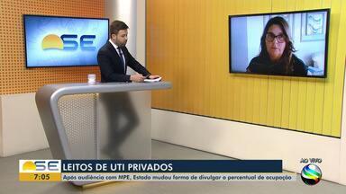 Promotora do MP-SE fala sobre os leitos de UTI particulares - Promotora do MP-SE fala sobre os leitos de UTI particulares.