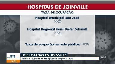 Taxa de ocupação de UTIs em Joinville chega a 100% - Taxa de ocupação de UTIs em Joinville chega a 100%