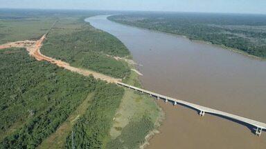 Dnit diz que ponte sobre o Rio Madeira deve ser entregue ainda este ano - Dnit diz que ponte sobre o Rio Madeira deve ser entregue ainda este ano