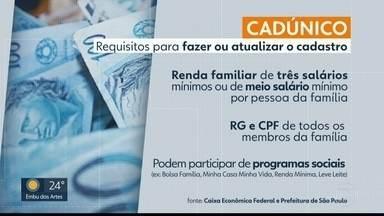 Prefeitura lança mutirão para registro no Cadúnico - Cadastro é necessário para os programas sociais dos governos.