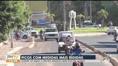 Picos segue decreto estadual neste fim de semana - Picos segue decreto estadual neste fim de semana