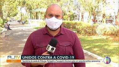 Secretários de saúde da Região Serrana discutem ação em conjunto contra a Covid-19 - Reunião contou com os secretários de Nova Friburgo, Teresópolis e Petrópolis.