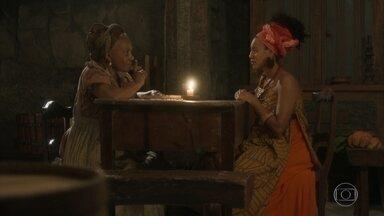 Idalina alerta Diara sobre Greta - Ela orienta Diara a aguentar as provocações da cunhada em silêncio e com paciência