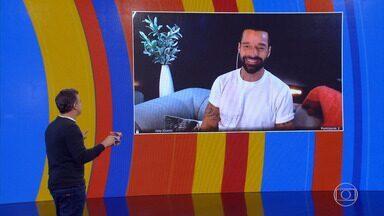 Ricky Martin fala sobre família e carreira com Huck - Cantor faz surpresa para fã no 'Caldeirão'
