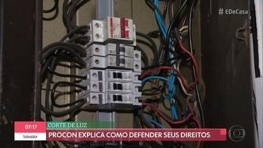 Corte de luz fica suspenso até o fim do ano - PROCON explica como defender seus direitos