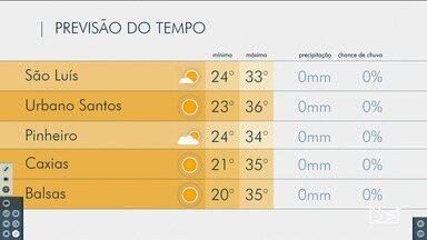 Veja as variações das temperaturas no Maranhão - Confira a previsão do tempo para este sábado (25) em São luís e tambpem no interior do estado.