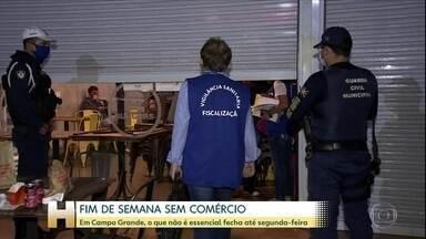 Em Campo Grande, comércio não essencial vai ficar fechado no final de semana - Só serviços essenciais e bares e restaurantes com serviço de entrega podem funcionar