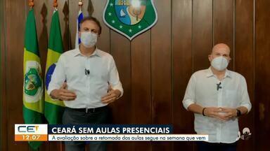 Ceará segue sem aulas presenciais - Saiba mais em: g1.com.br/ce