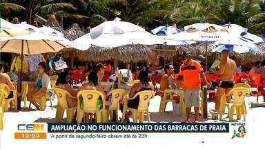 Barracas de praia abrem até às 23h a partir de segunda-feira - Saiba mais em: g1.com.br/ce