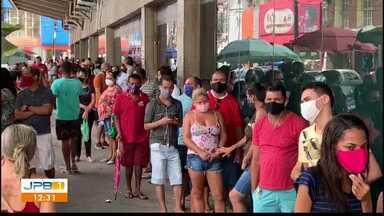 Liberação de saque de novas parcelas do Auxílio Emergencial causam filas, em João Pessoa - Saques também podem ser feitos em caixas eletrônicos e lotéricas