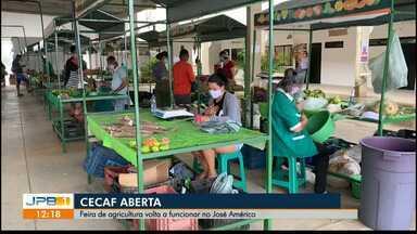 Feira de agricultura volta a funcionar no José Américo - Cecaf abre com medidas de distanciamento e higienização