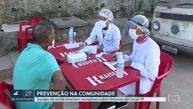 Equipes de saúde orientam moradores do Morro do Papagaio sobre sintomas da Covid-19 - Associação de moradores da Barragem Santa Lúcia ainda está realizando uma vaquinha para conseguir comprar testes rápidos.