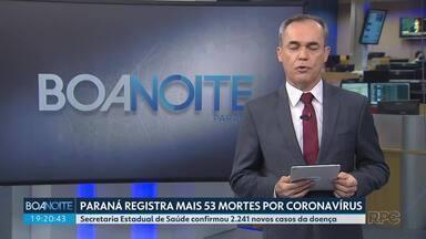 Paraná registra 1.632 mortes por coronavírus - Média móvel de mortes no estado chegou hoje a 49.