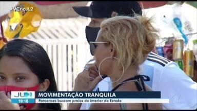 Muitos paraenses deixam Belém em busca de balneários pelo interior do Pará - Como ainda está em tempos de pandemia, a procura pelos ônibus foi considerada tranquila.