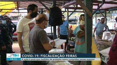 Segurança e saúde: fiscalização é realizada na Feira da Cohab, em Santarém - Ação foi feita com intuito de combater irregularidade.
