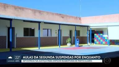 Justiça suspendeu a volta às aulas nas escolas particulares na segunda (27) - GDF disse que vai cumprir a decisão da Justiça do Trabalho, mas vai recorrer.