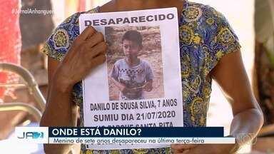 Família acredita que criança desaparecida foi raptada, em Goiânia - Ele disse à mãe que iria para a casa da avó e não foi mais visto.