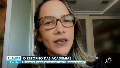 Sindicato estima retorno de 80% das academias na segunda-feira - Saiba mais em g1.com.br/ce