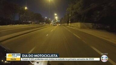 Estado de SP registrou queda nos acidentes com motos - No primeiro semestre de 2020 foram 3.325 acidentes com motos. 14% a menos que o mesmo período de 2020.
