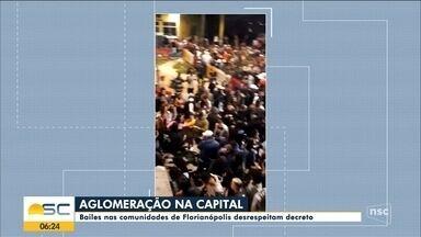 Bailes nas comunidades de Florianópolis desrespeitam decreto - Bailes nas comunidades de Florianópolis desrespeitam decreto