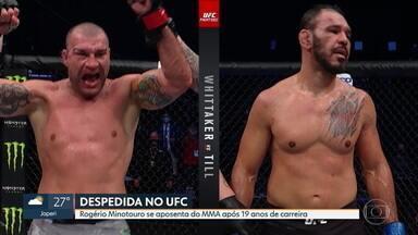 Após 19 anos de carreira, Rogério Minotouro se aposenta do MMA com derrota para Shogun pelo UFC - Após 19 anos de carreira, Rogério Minotouro se aposenta do MMA com derrota para Shogun pelo UFC