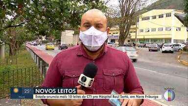 Estado anuncia leitos de UTI para hospital em Nova Friburgo - Hospital Raul Sertã irá receber mais 10 leitos de CTI.