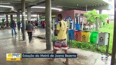 Horário do Metrô do Recife é ampliado após redução durante a pandemia - Funcionamento das linhas Centro e Sul passa a ser das 5h30 às 21h a partir da quinta (30), data em que o VLT também volta a funcionar.