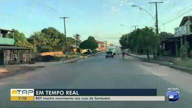Confira a movimentação da cidade de Santarém na manha desta quarta-feira, 29 - Veja em Tempo Real.