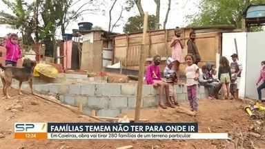 Obra em Caieiras pode deixar 280 famílias desabrigadas - Famílias que moram em habitação temem não ter para onde ir.