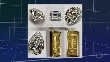 Ministério da Justiça leiloa joias que pertenciam a Sérgio Cabral - Quinze diamantes e cinco barras de ouro, apreendidas na Lava Jato, foram arrematadas por R$ 4,6 milhões