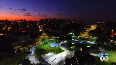 Drone mostra praça do Cruzeiro, em Goiânia - Local passou por reforma.