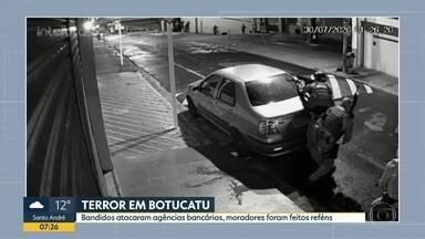 Terror em Botucatu - Bandidos atacaram agências bancárias, moradores foram feitos reféns.