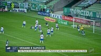 São Paulo é eliminado e Palmeiras avança para a semifinal do Campeonato Paulista - Palmeiras sofreu mas passou pelo Santo André, mas venceu o jogo por 2x0.