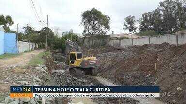 """Termina nesta quinta-feira o """"Fala Curitiba"""" - População pode sugerir onde o orçamento do ano que vem pode ser gasto"""