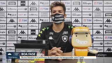 Botafogo conta com boa fase do artilheiro Bruno Nazário para estreia no Brasileirão - Botafogo conta com boa fase do artilheiro Bruno Nazário para estreia no Brasileirão
