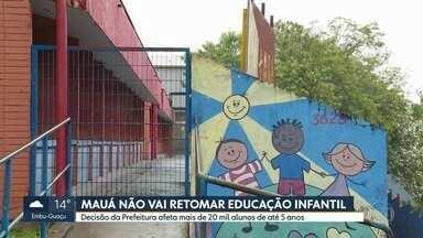 Aulas na educação infantil de Mauá só voltam em 2021 - Decisão da Prefeitura afeta mais de 20 mil alunos de até 5 anos