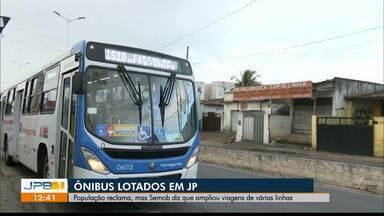 População reclama de ônibus lotados em João Pessoa - Semob-JP irá ampliar linhas do transporte público na capital paraibana.