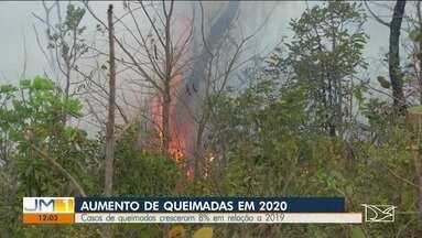 Casos de queimadas crescem 8% em 2020 em relação ao mesmo período de 2019 - O Maranhão é o quarto estado com maior focos de queimadas, segundo o INPE.