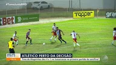 Atlético de Alagoinhas vence o Juazeirense e se aproxima da final do Baianão - Clube deu goleada de 4 a 1.