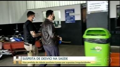Vice-prefeito de Arujá é preso suspeito de desviar dinheiro da Saúde - Marcio José de Oliveira (PRB) foi preso na casa dele. Outras seis pessoas também foram presas.
