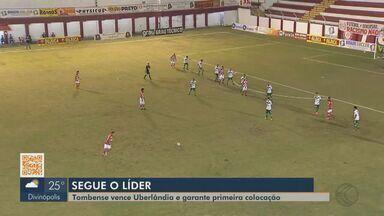 Tombense vence Uberlândia e termina primeira fase como líder do Mineiro - Em Tombos, Gavião venceu por 1 a 0 com gol do artilheiro Rubens. Verdão vai jogar o Troféu Inconfidência.