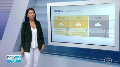 Belo Horizonte tem previsão de céu parcialmente nublado para sexta-feira - Veja a previsão do tempo para a capital e o estado.