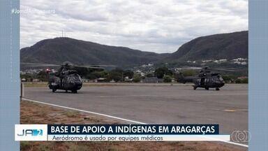 Aeródromo de Aragarças serve como base de missão federal para ajudar indígenas de Goiás - Operação deve atender nove mil índios Xavantes.