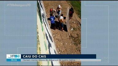 Homem morre ao cair de cais de 4 metros no interior do Tocantins - Homem morre ao cair de cais de 4 metros no interior do Tocantins