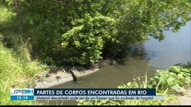 Membros de corpo humano encontrados em rio são de freezer furtado de hospital de JP - Membros de corpo humano encontrados em rio são de freezer furtado de hospital de João Pessoa